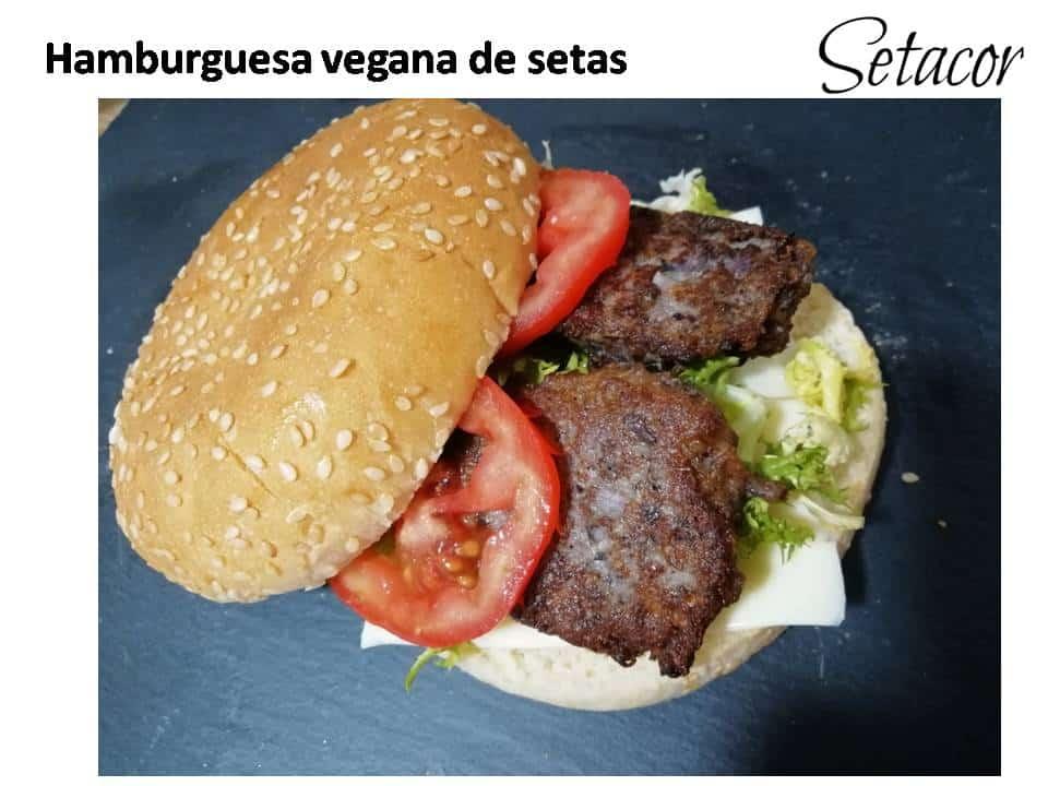 Hamburguesas veganas de setas